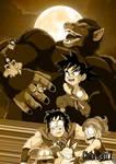 Goku becomes an oozaru