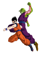 Renders Gohan and Piccolo by ChibiDamZ