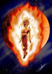 Commission Burning super saiyan