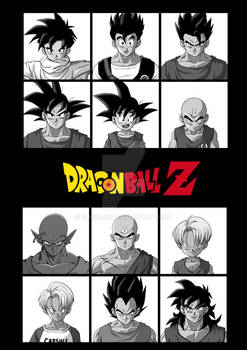 some miniatures of Dragon ball Z characters