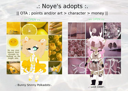 .+*OTA adopts*+:. A bunny and a deer ( 2/2OPEN)
