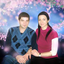 A Couple Portrait by calincio