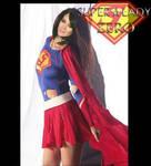 Dark haired Hilary duff as SuperLady 1