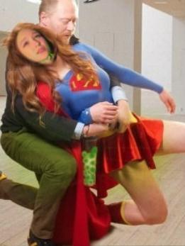 Melissa Benoist As Supergirl Peril Tentacles Bondage