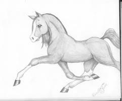 Anime-ish Horse by Akira-chan9