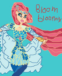 winx club art drawn Bloom Bloomix by Paradign