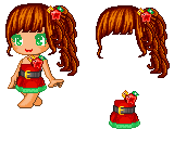 Fantage custom Christmas hair and dress GIFT by Paradign