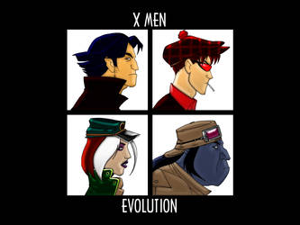 X Men Do Gorillaz by FabFelipe