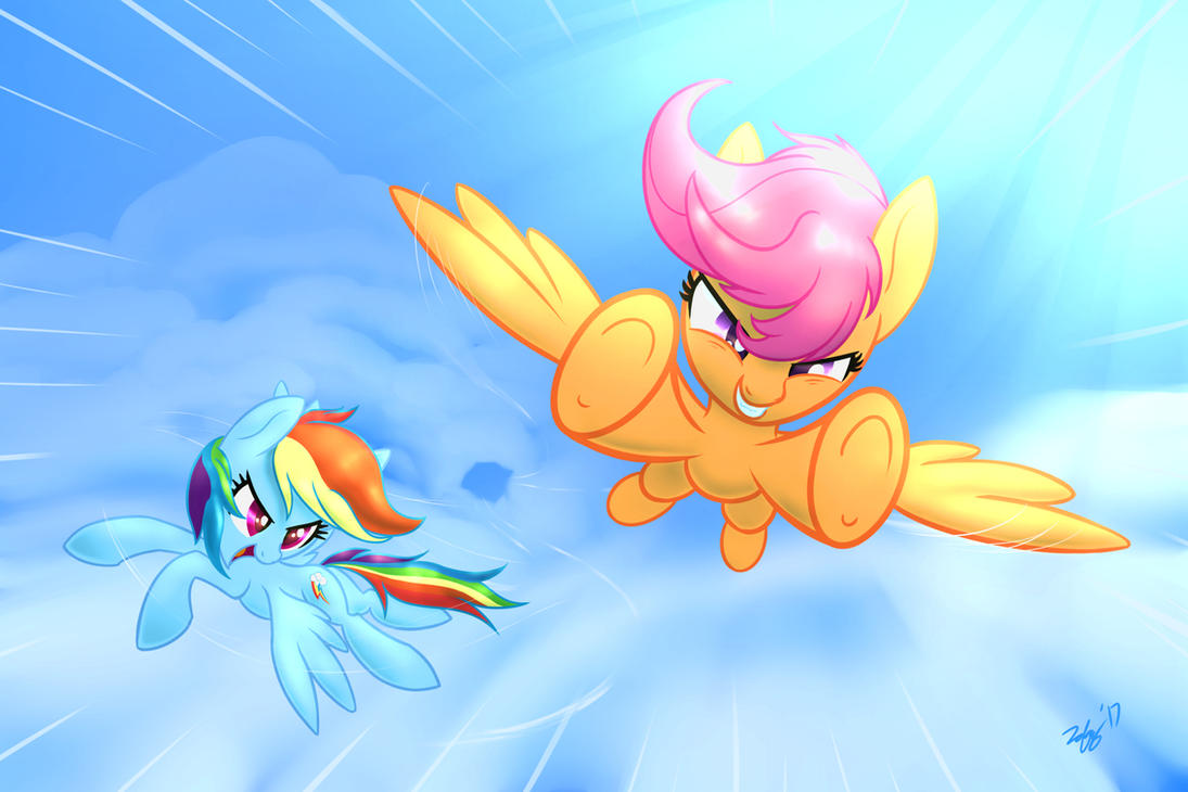 Rainbow With a Dash of Scoots by Zolfyyy