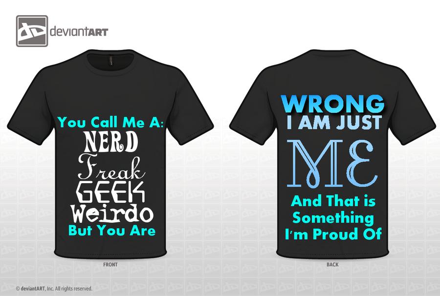 Just Me T-shirt Design by EveFarrel