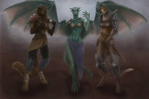 Commission: Avari, Cemolon and Mika by ValkiriaIX