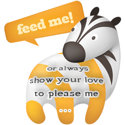 zebra RSS - feed me or love me by Scaloperion