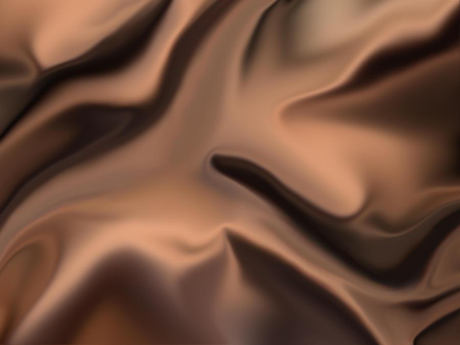Wrinkled Brown Silk