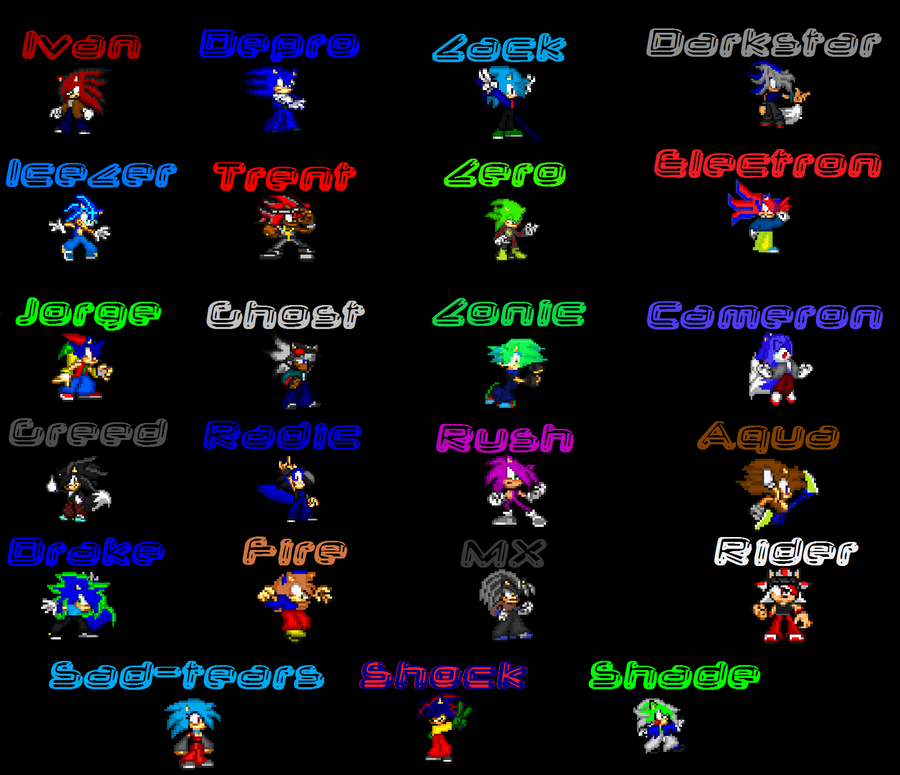 My Sprite Series Cast by AskSoloTheSoulhog