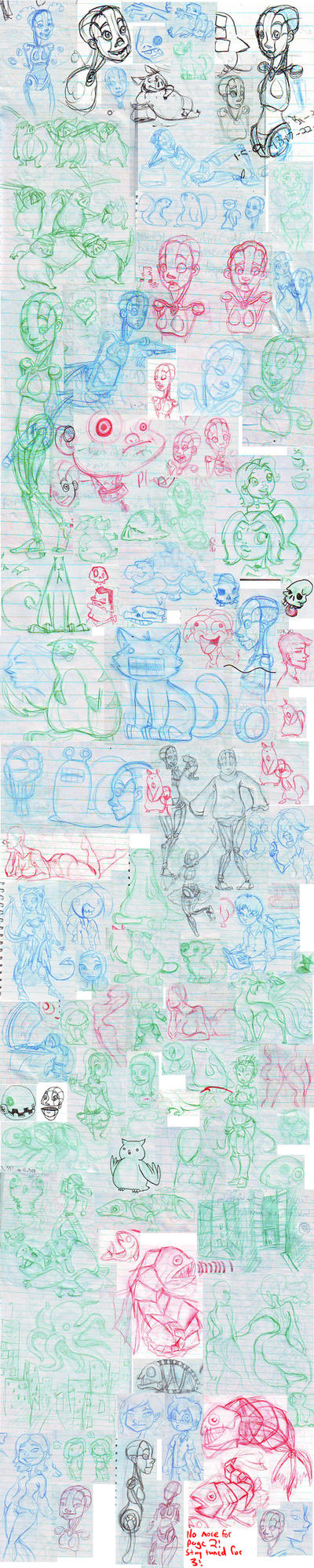 Workbook Sketchdump 2 by kippy-sneeze