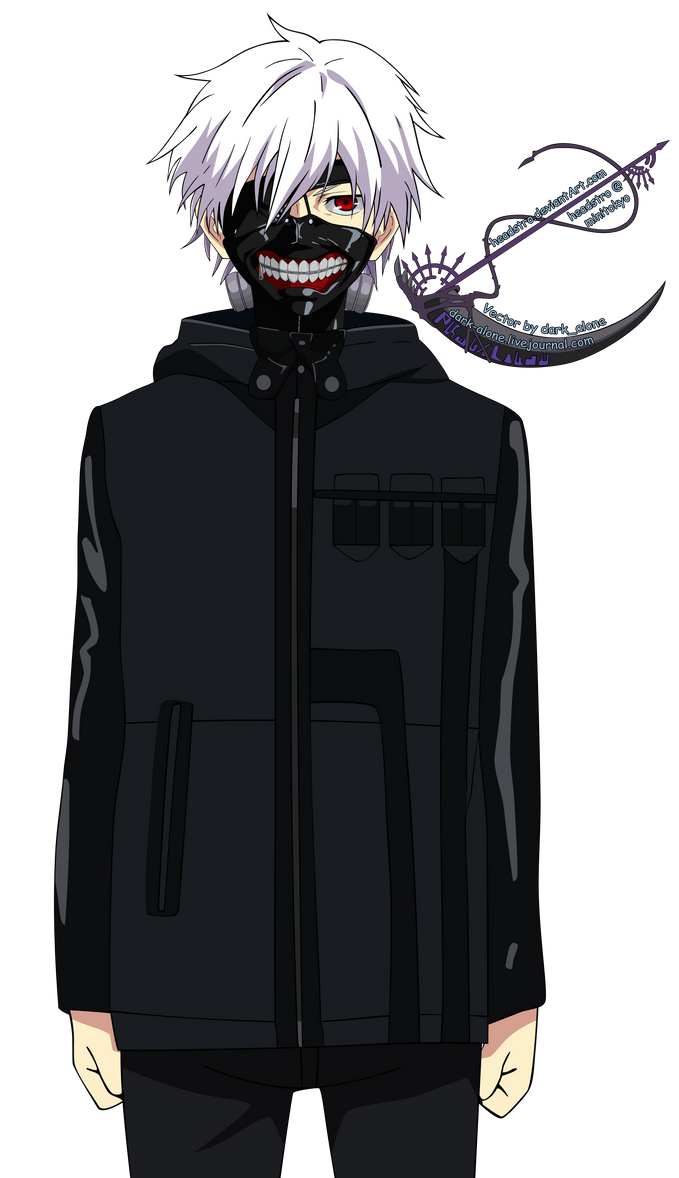 Kaneki - Tokyo Ghoul - Vector -lazy ver- by headstro