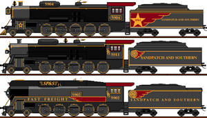 Sandpatch and Southern 4-10-0 Steam Locomotives