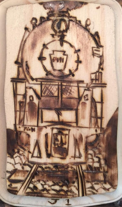A First Attempt At Pyrography by Engine97