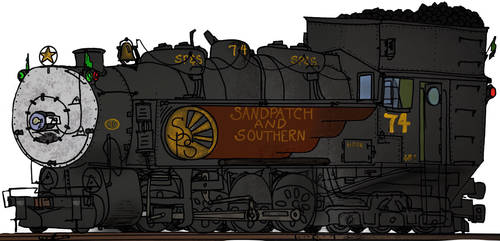 2-8-6t Helper Locomotive in Color! by Engine97