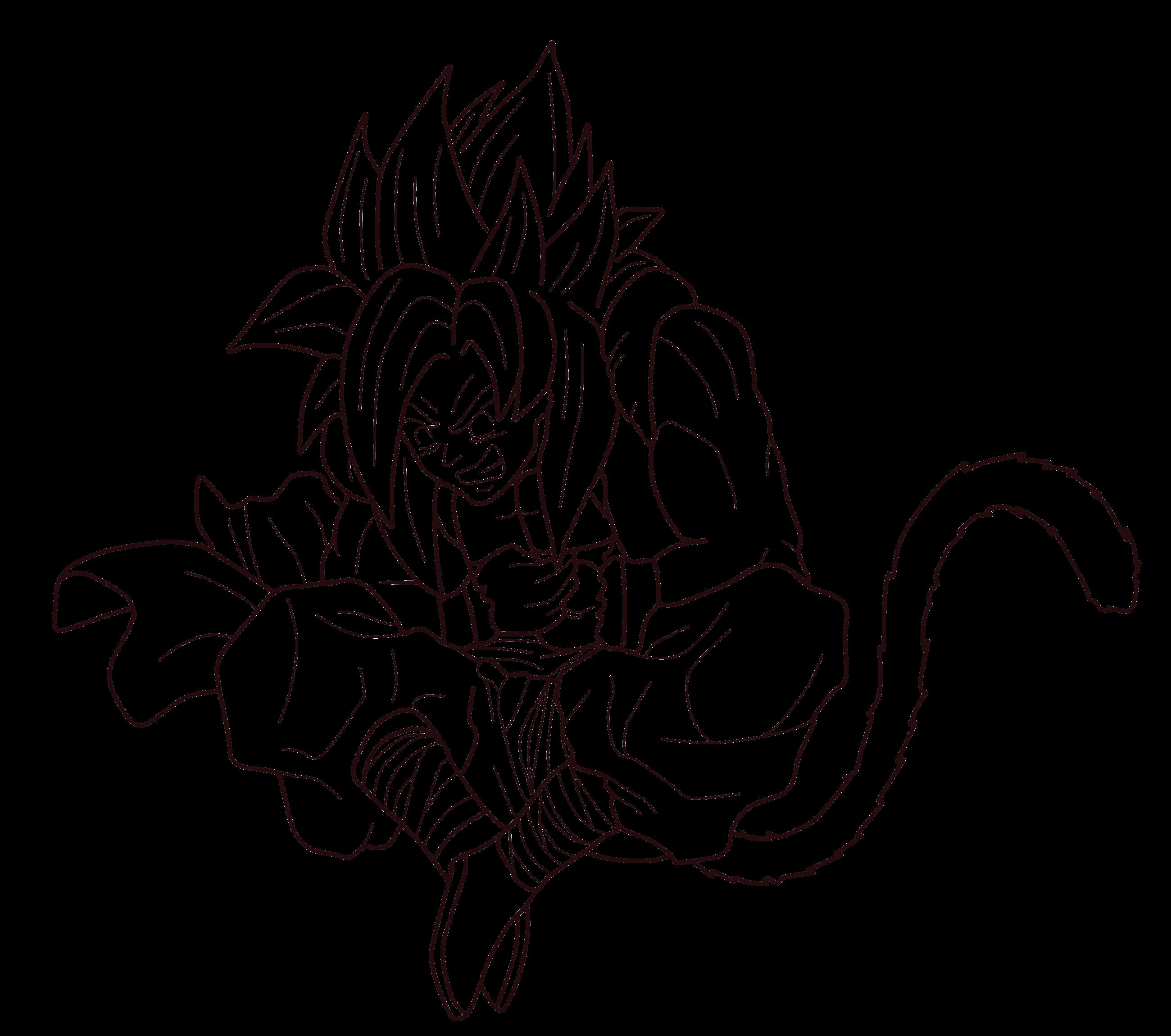 Ssj4 Gogeta Lineart 01 By Zed Creations On Deviantart