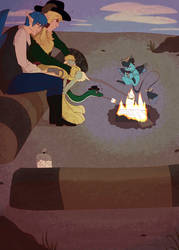PV [ Roasting Marshmellows Over A Fire ]