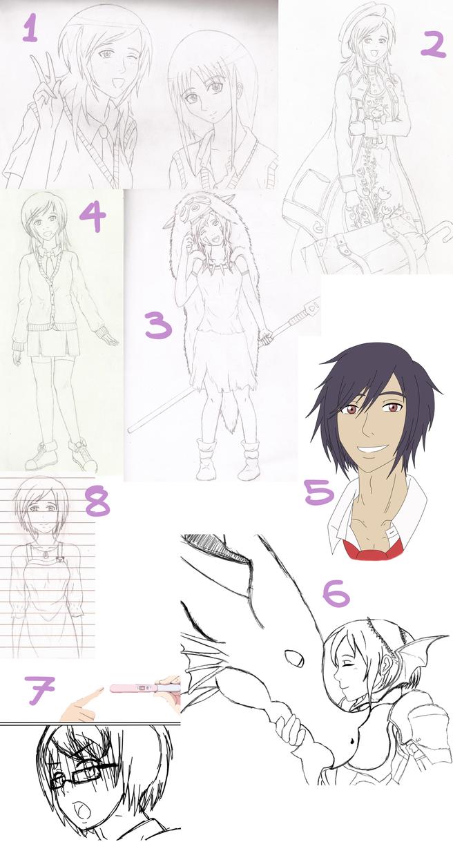 [KA] Ayame's Unfinished Drawings by Mandabexy