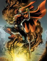 Cyborg Superman FANART !!!  now comic style by predatorhunter79