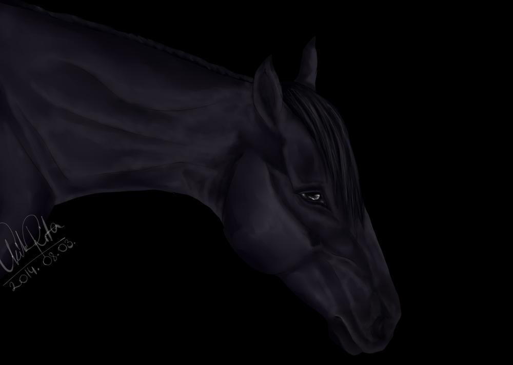 Realistic horse by Leloowe