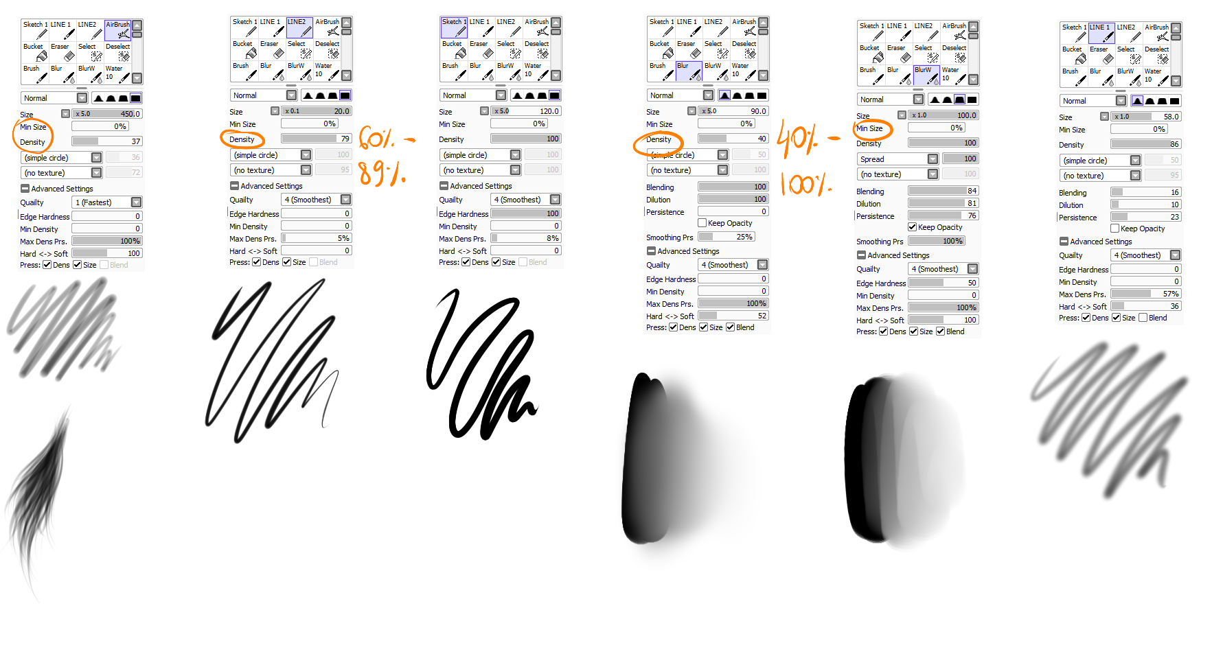 PAINT TOOL SAI BRUSHES by Ayazuea