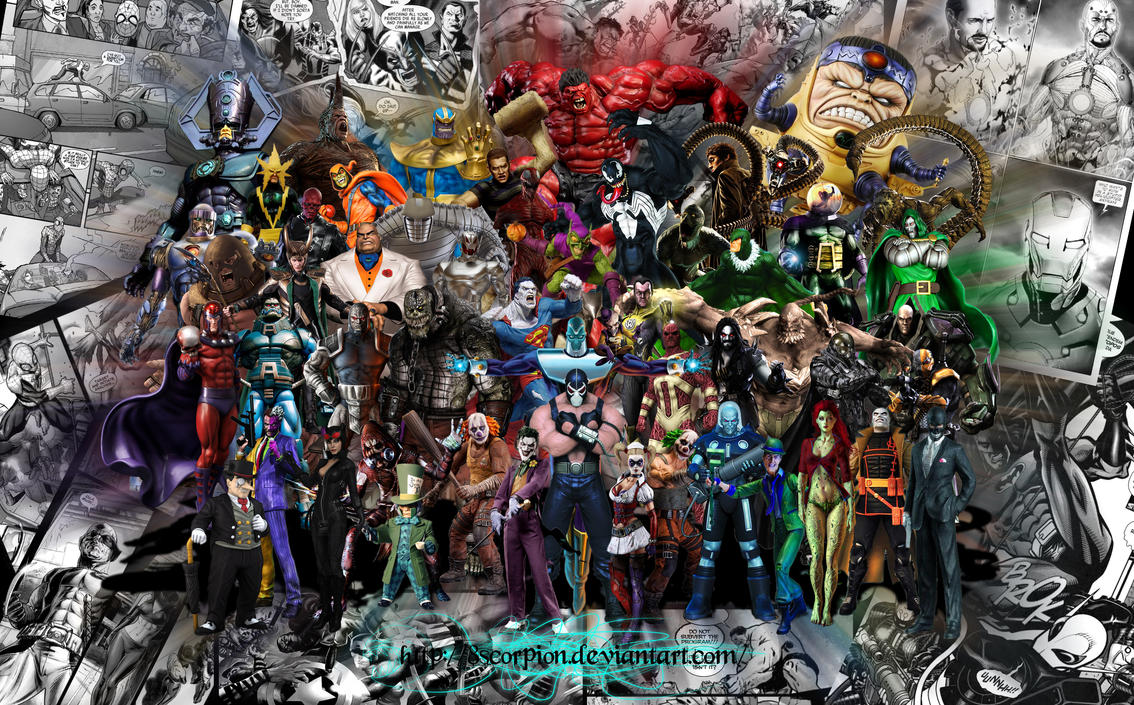 Dc And Marvel Villains By 8scorpion