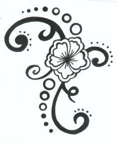 my second tattoo design - flower tattoo
