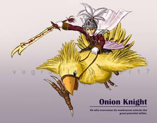 FFIII - Mounted Onion Knight by vagrantslasher17