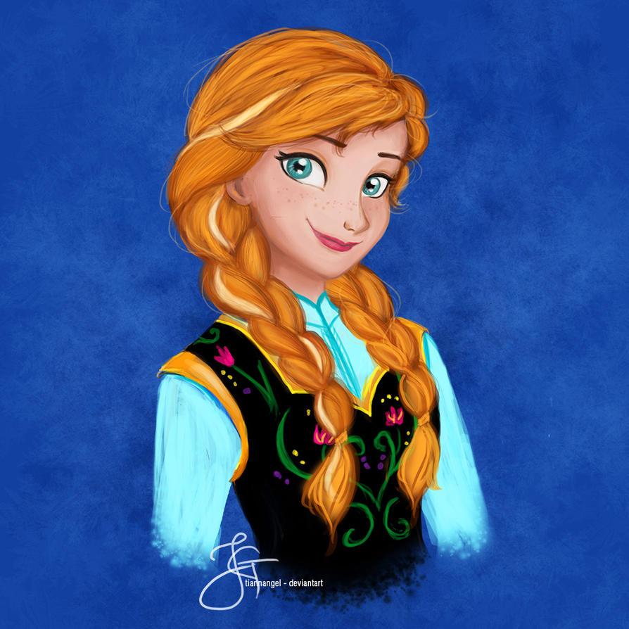 Anna (Frozen) by tiannangel on DeviantArt