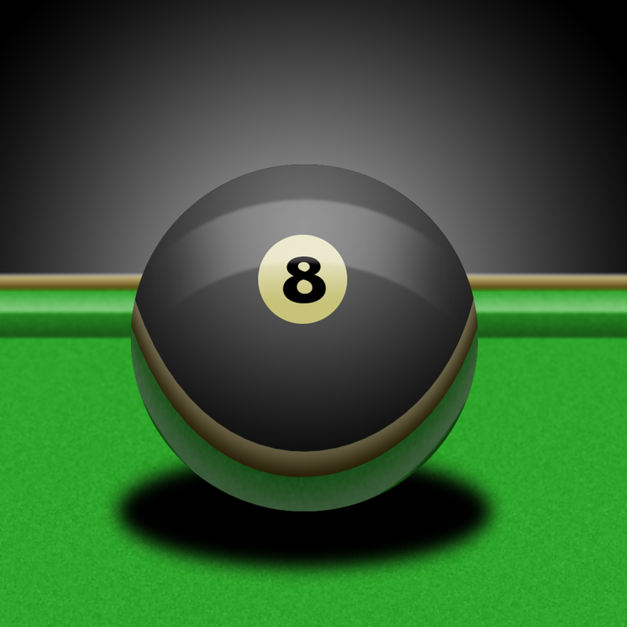 8-ball on the Billiards Table by comic-master