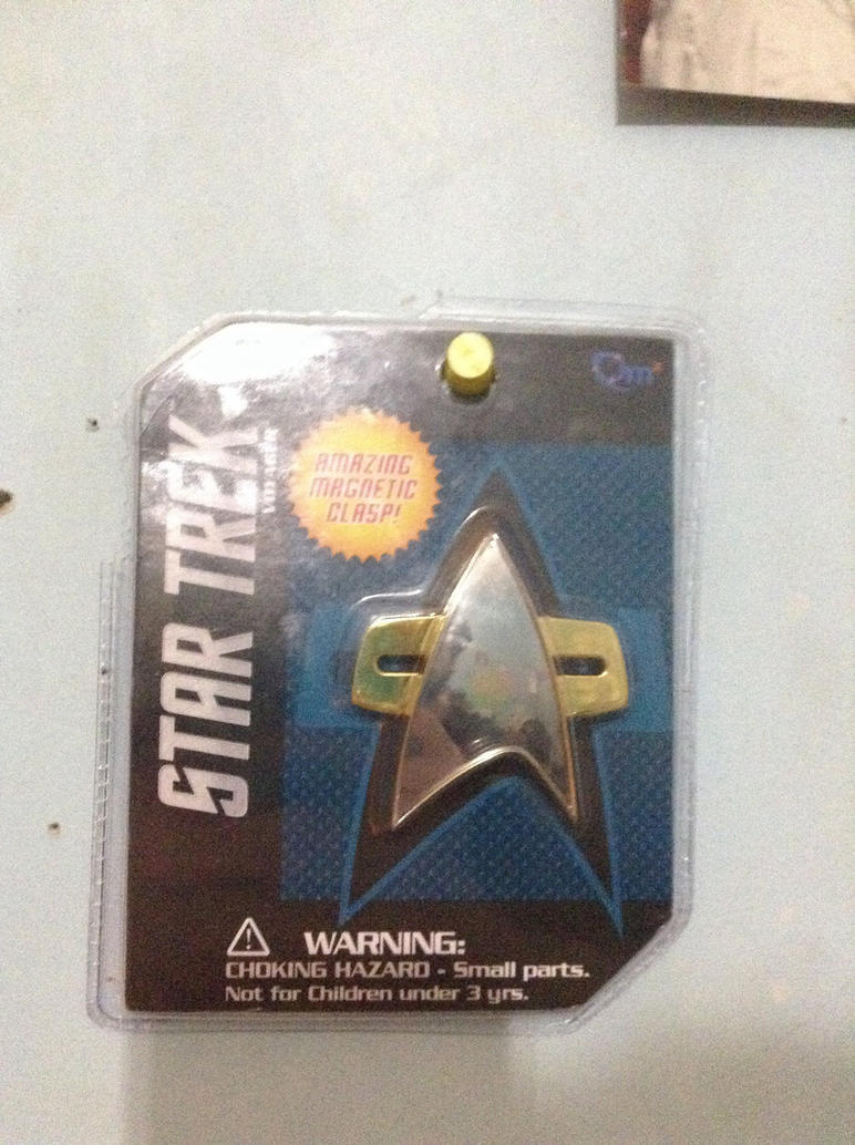 Star Trek Voyager 1:1 scaled Combadge Prop by comic-master