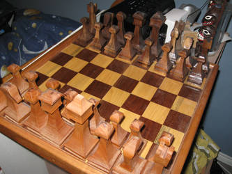 Wooden Chess Board by evilgamer13