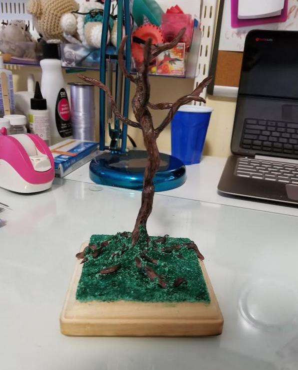 Polymer Clay Tree WIP by thetragicdream