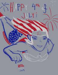 4th of July Wonder Woman