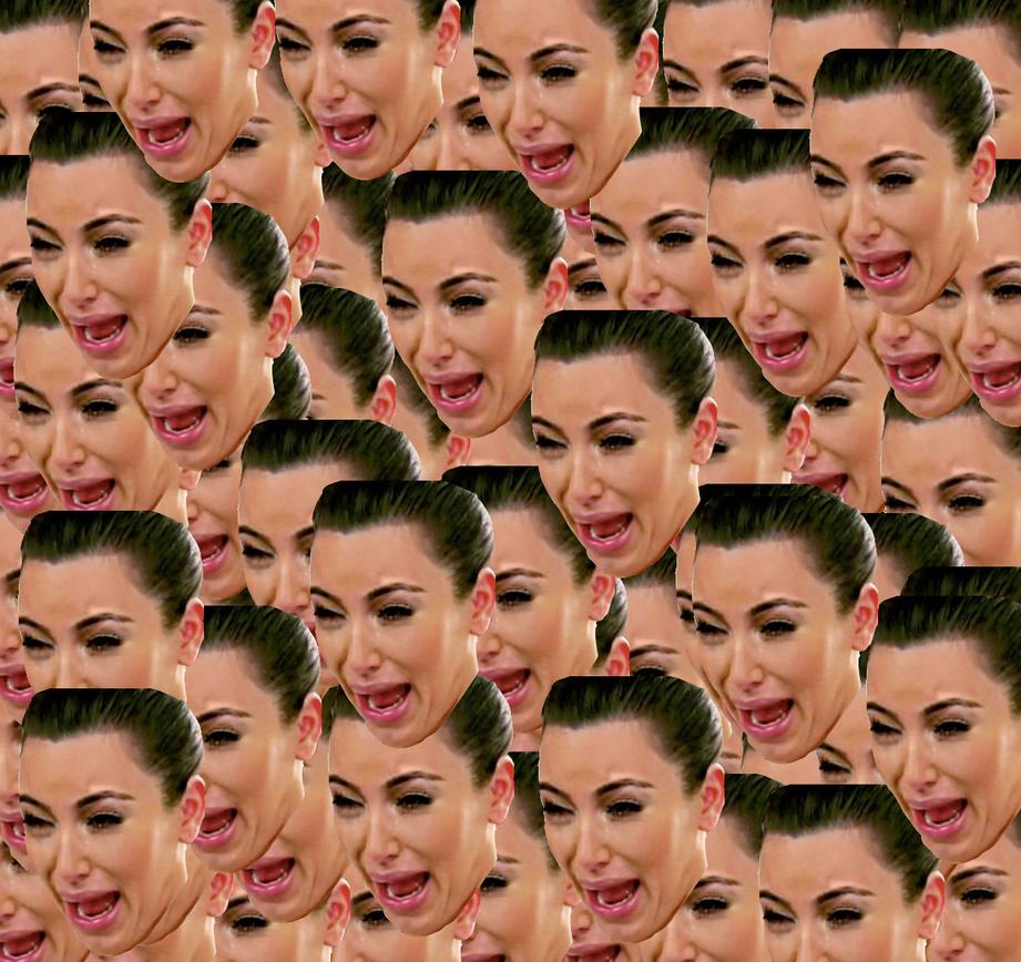 Kim kardashian wallpaper by phanksfrthmrmrs on deviantart - Kim kardashian crying collage ...