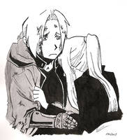 Ed and Winry by muse-of-mirth