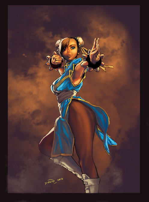 Com  Chun Li by Master-Commission