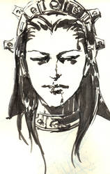 Vampire Lord ink drawing