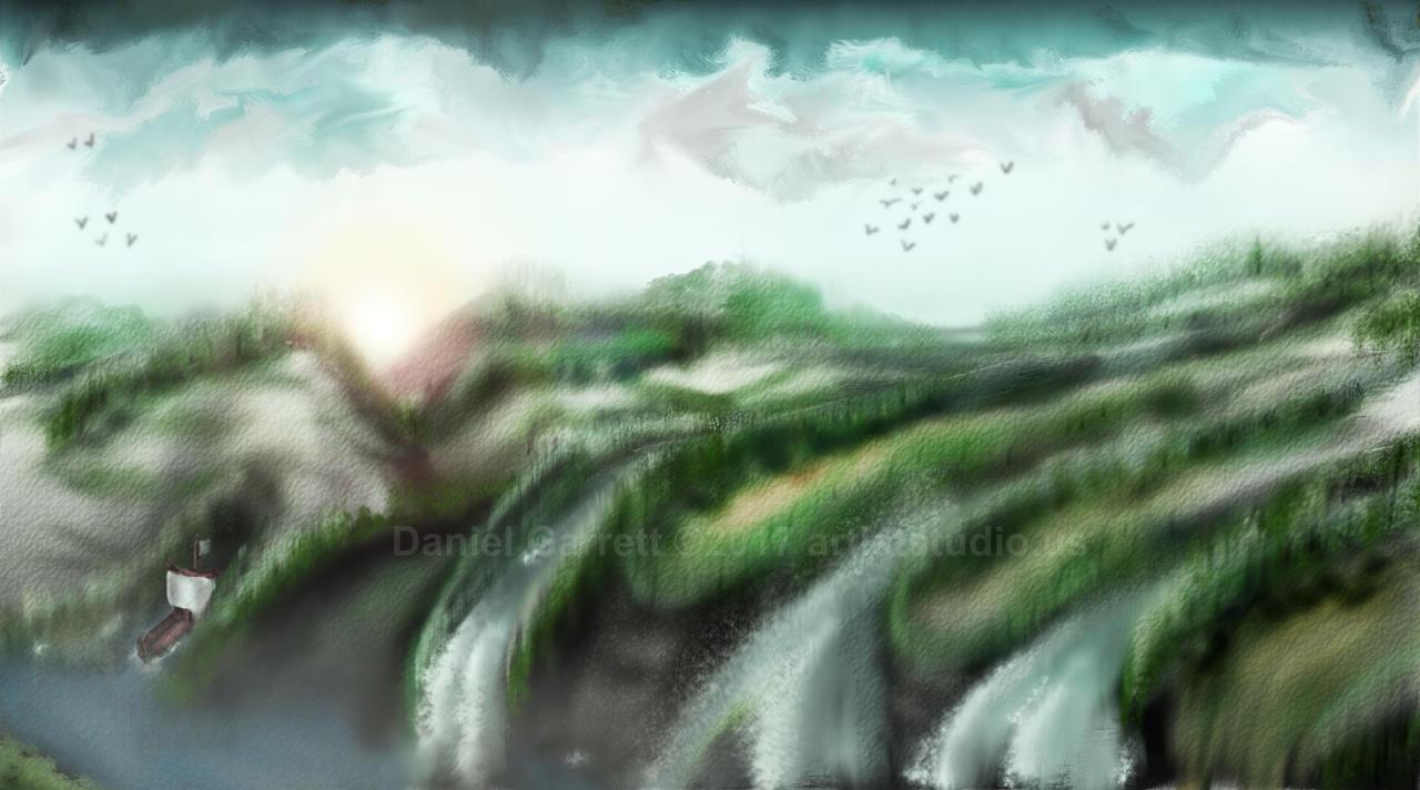 Fantasy Landscape by artiststudio-us