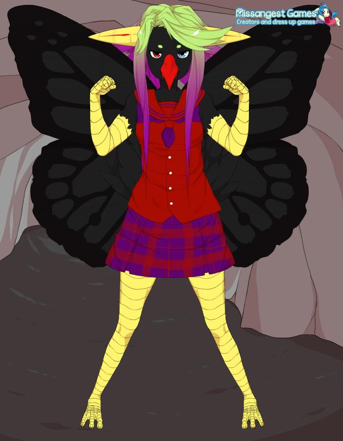 Bird Chan Kawaii Desu OC by FUUNNYJOKE