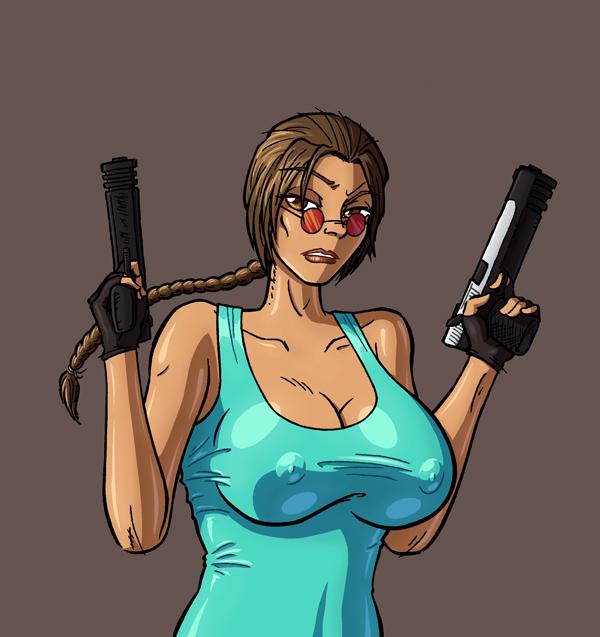 Busty Vintage Lara Croft by ReallyAngry