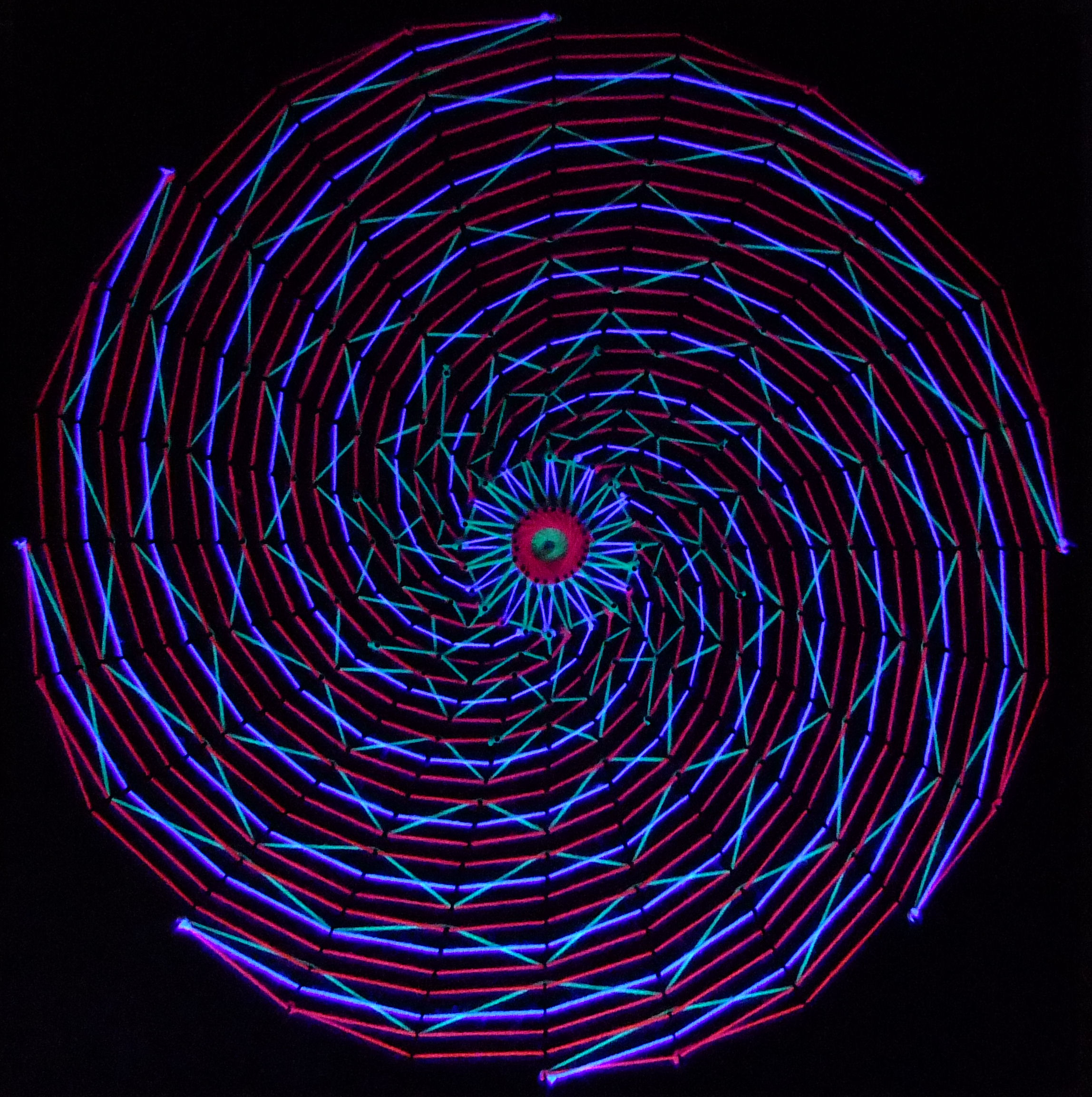 String Lights Art : Spiral Blacklight Stringart by String-Art on DeviantArt