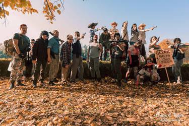 The walking dead cosplay group by SaryAngel