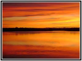 Orange sky, Orange river by engridearty