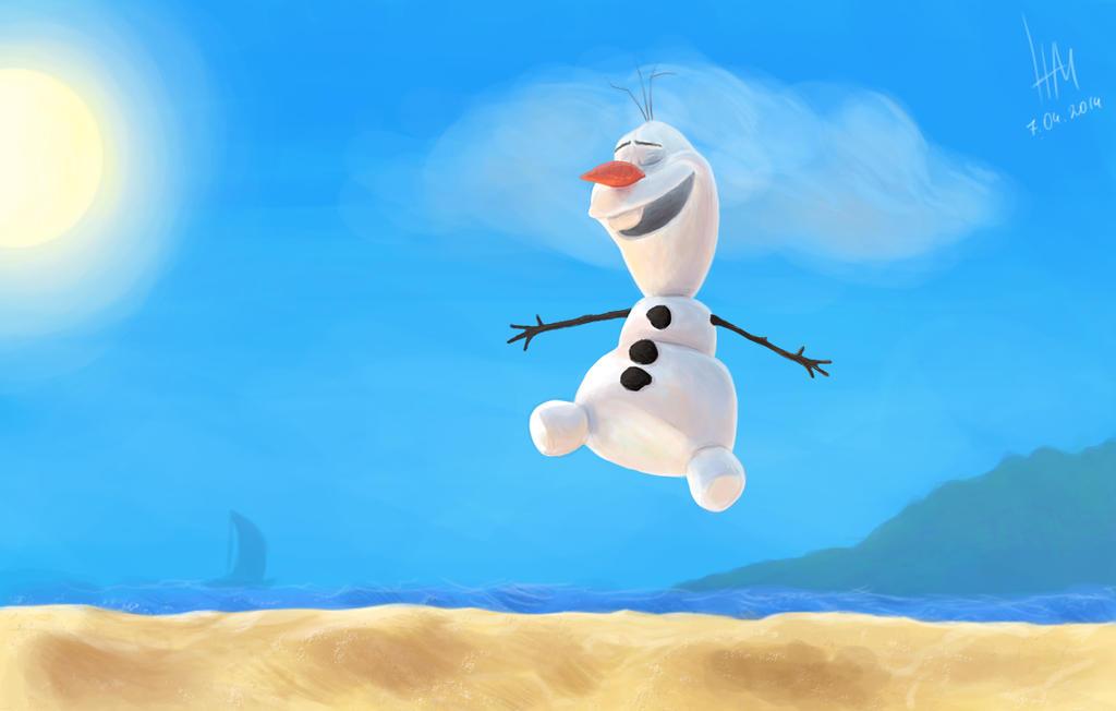 Olaf In Summer Happy Snowman