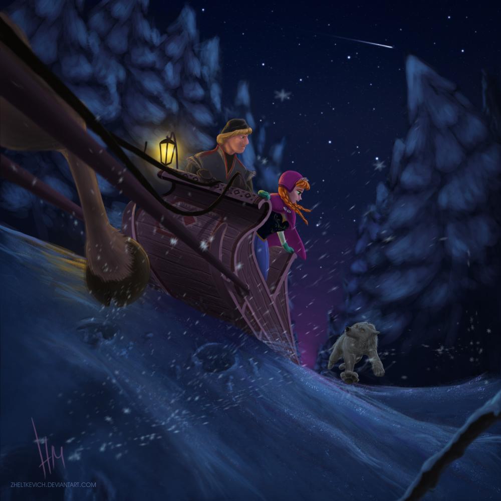 Anna and kristoff frozen by zheltkevich on deviantart